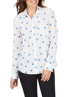 Foxcroft Hampton Flirty Dot Non-Iron Shirt
