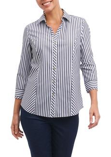 Foxcroft Hope Preppy Stripe Cotton Shirt (Regular & Petite)