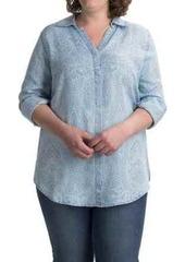 Foxcroft Ivy Paisley Shirt - TENCEL®, Long Sleeve (For Plus Size Women)