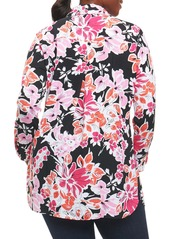 3b398cab75c On Sale today! Foxcroft Foxcroft Jade Blooming Floral Tunic (Plus Size)