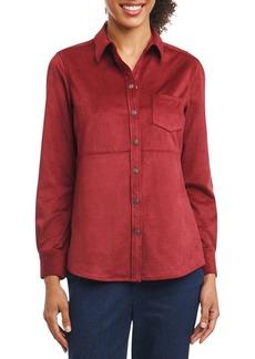 Foxcroft Jena Faux Suede Shirt (Regular & Petite)