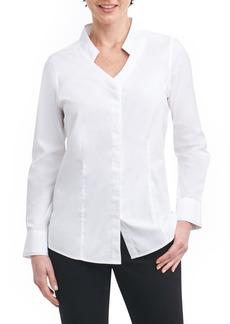 Foxcroft Jewel Stretch Cotton Shirt (Regular & Petite)