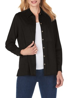 Foxcroft Journey Faux Suede Shirt Jacket