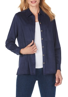 Foxcroft Journey Faux Suede Shirt Jacket