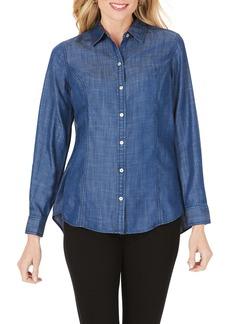 Foxcroft Juliet Chambray Button-Up Shirt