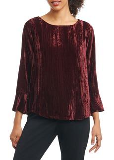 Foxcroft Korin Broomstick Velvet Top (Regular & Petite)