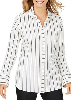 Foxcroft Kyla Non-Iron Striped Shirt