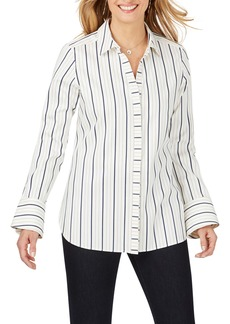 Foxcroft Kyla Stretch Non-Iron Sateen Stripe Shirt