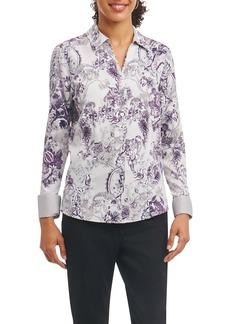 Foxcroft Lauren Floral Tapestry Wrinkle Free Shirt (Regular & Petite)