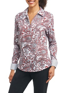 Foxcroft Lauren Romantic Paisley Shirt (Regular & Petite)