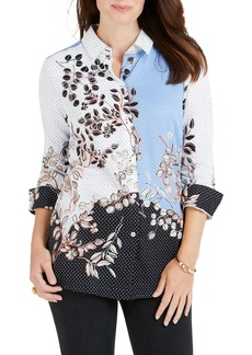 Foxcroft Libby Flowing Florals Dot Shirt