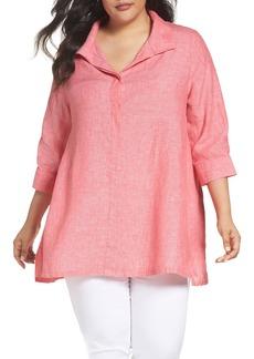 Foxcroft Linen Chambray Tunic (Plus Size)
