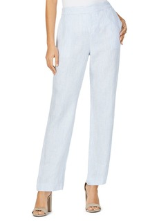Foxcroft Livingston Striped Linen Pants