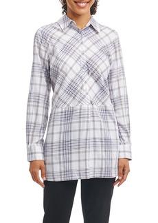 Foxcroft Maddy Plaid Tunic Shirt