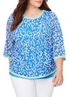 Foxcroft Marcy Coral Reef Camisole & Sweater (Plus Size)