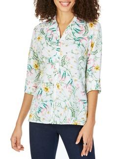 Foxcroft Maria Winding Botanical Cotton Shirt