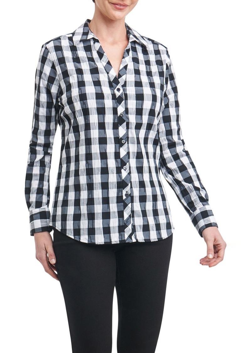 f637511805b Foxcroft Foxcroft Mary Buffalo Check Crinkle Shirt