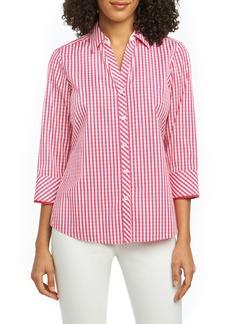 Foxcroft Mary Gingham Wrinkle Free Shirt (Regular & Petite)