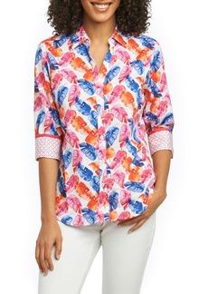 Foxcroft Mary Layered Palms Wrinkle Free Shirt (Regular & Petite)