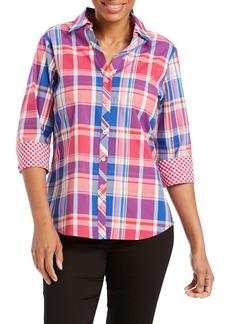 Foxcroft Mary Madras Plaid Shirt