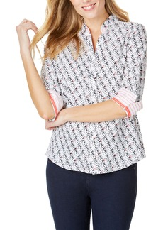 Foxcroft Mary Toucan Print Wrinkle Free Shirt