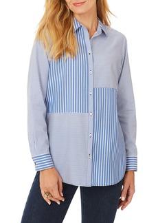 Foxcroft Maven Stripe Button-Up Shirt
