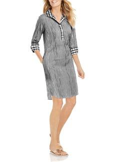 Foxcroft Miri Crinkled Gingham Dress