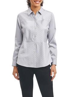 Foxcroft Monica Non-Iron Stripe Shirt (Regular & Petite)