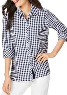 Foxcroft Morgan Non-Iron Gingham Shirt