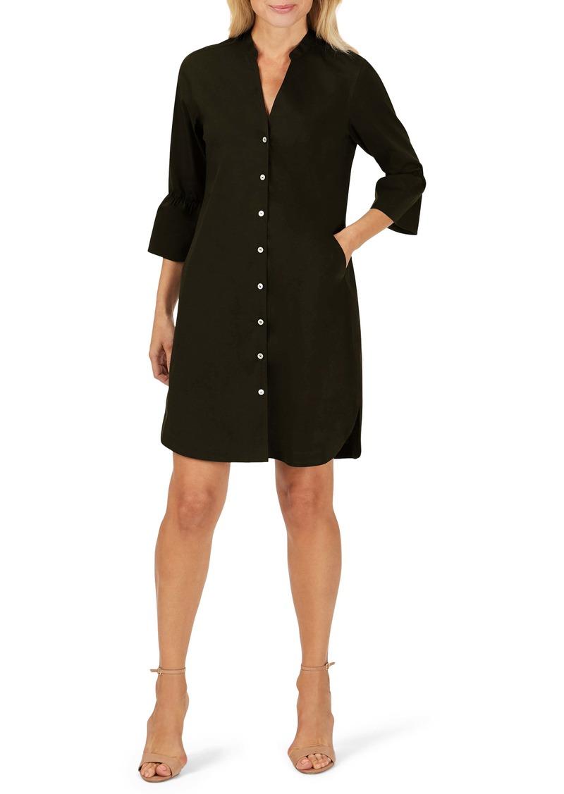 Foxcroft Nolan Bell Cuff Shirtdress