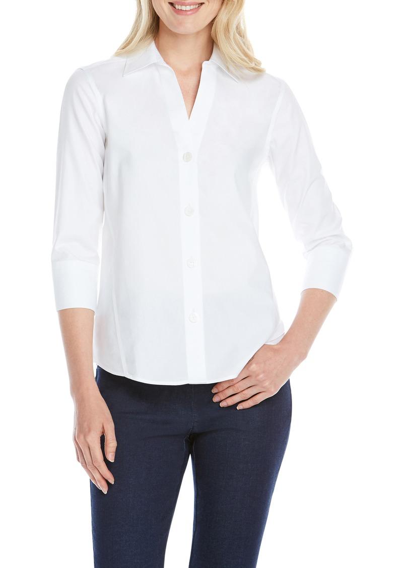 Foxcroft Paityn Non-Iron Cotton Shirt (Regular & Petite)
