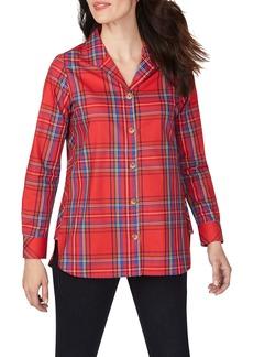 Foxcroft Pandora Emerson Tartan Wrinkle-Free Tunic Shirt
