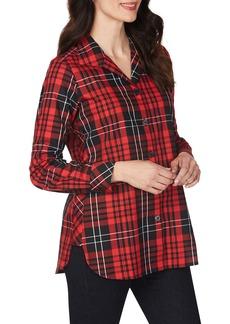 Foxcroft Pandora Matheson Tartan Wrinkle-Free Shirt