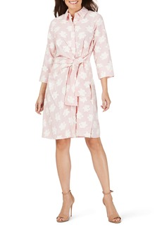 Foxcroft Parisian Clipped Floral Shirtdress