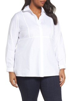 Foxcroft Pinpoint Oxford Cloth Shirt (Plus Size)