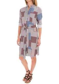Foxcroft Rayon Twill Patchwork Shirt Dress - Long Sleeve (For Women)
