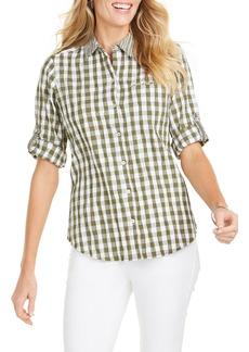 Foxcroft Reese Crinkle Gingham Shirt