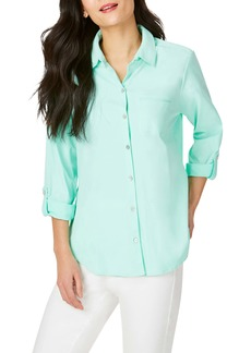Foxcroft Reese Solid UPF Wrinkle Free Shirt
