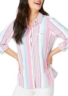 Foxcroft Reese UPF 50+ Striped Shirt
