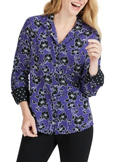 Foxcroft Rhonda Holiday Floral Shirt