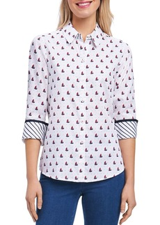 Foxcroft Sailboat Wrinkle-Free Shirt