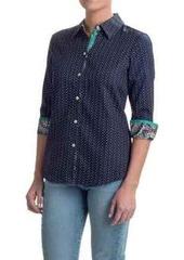 Foxcroft Sateen Shaped Shirt - 3/4 Sleeve (For Women)