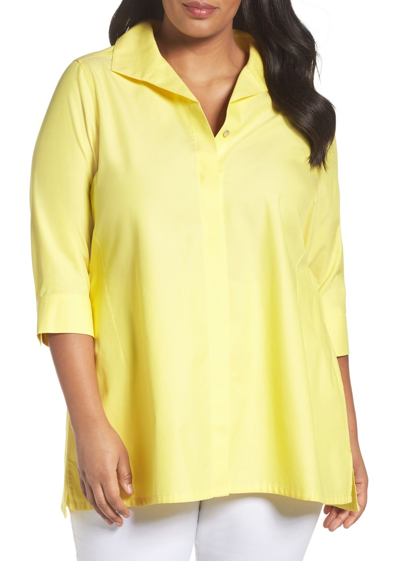 61f544269bf SALE! Foxcroft Foxcroft Skye Non-Iron Tunic Shirt (Plus Size) - Shop ...
