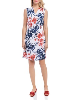 Foxcroft Sleeveless Floral Print Dress