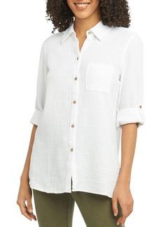 Foxcroft Tamara Cotton-Gauze Shirt