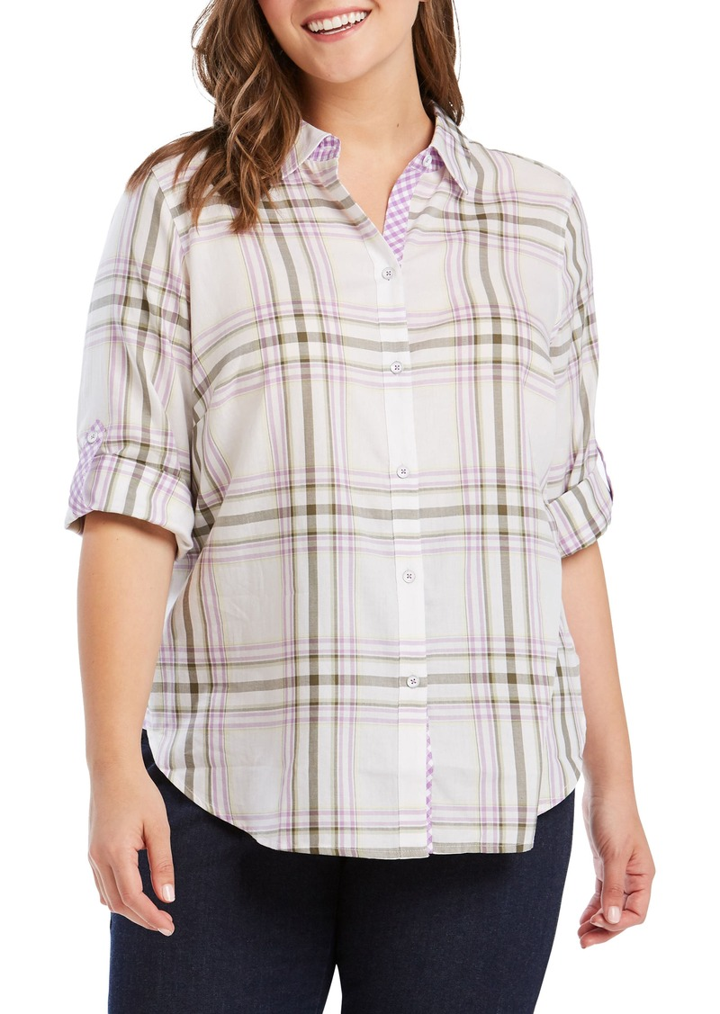 be48a370b09d1 Foxcroft Foxcroft Tamara Plaid Shirt (Plus Size)