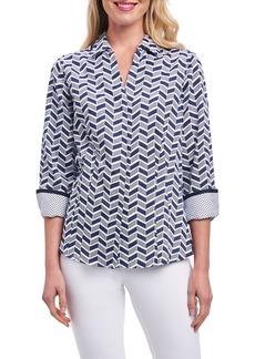 Foxcroft Taylor Chevron Non Iron Cotton Shirt (Regular & Petite)