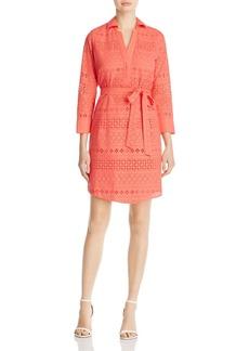 Foxcroft Taylor Eyelet Shirt Dress