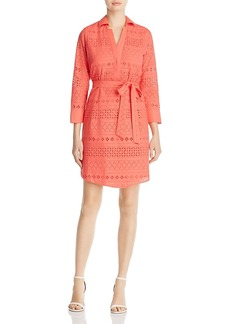 Foxcroft Taylor Eyelet Shirt Dress