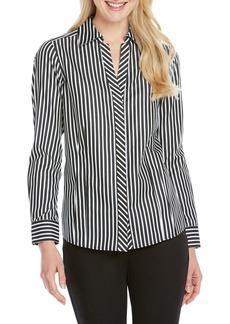 Foxcroft Taylor Stripe Shirt (Regular & Petite)